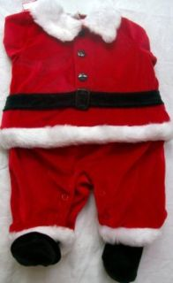 Baby Boy or Girl 3 6 Months, Babys Christmas, Santa Dress