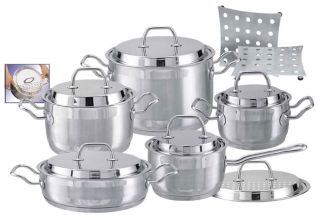 Kochmann 13 piece Deluxe Stainless Steel Cookware Set