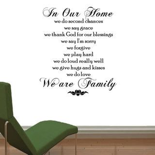 In Our Home, We Do Vinyl Wall Quote Art Decal