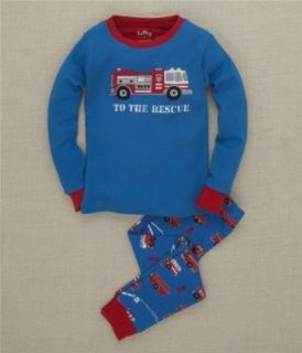 Hatley Fire Trucks To The Rescue Kids Pajama Set