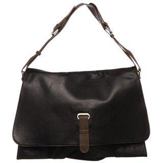 Sondra Roberts Black Leather Shoulder Handbag