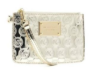 Michael Kors Jet Set Small Wristlet in Pale Gold Shoes