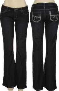 com ROCK REVOLUTION Stretch Flare Jeans [NR 49], Indigo, 1 Clothing
