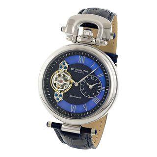 Stuhrling Original Mens Emperor Dual Time Zone Watch