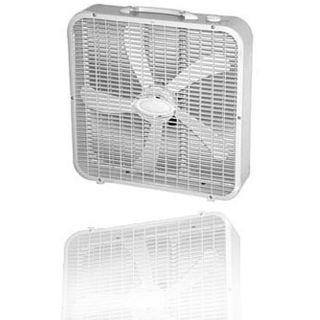 Optimus White Whisper quiet 20 inch Box Fan