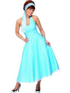 Smiffys 50S Style Polkadot   Adult Fancy Dress Costume