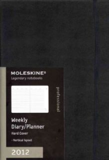 Moleskine 2012 Professional Weekly Planner Vertical Black Hard Cover
