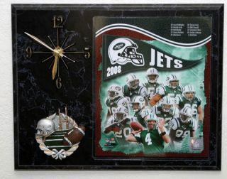 2008 New York Jets Picture Clock