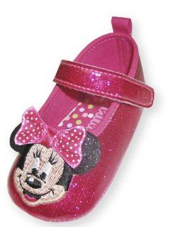 Glittered Disney Minnie Mouse Mary Jane Shoe   Size 9 12 Months Shoes