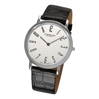 Stuhrling Original Mens White Belmont Ultra Slim Watch