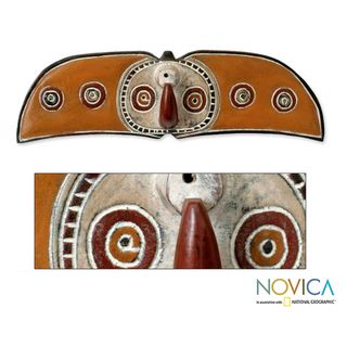 Sese Wood Handcrafted Bwa Celebration Africa Tribal Mask (Ghana