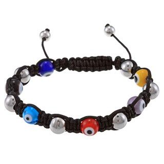 La Preciosa 8mm Multi Colored Evil Eye and Stainless Steel Beads w