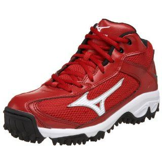 Mens 9 Spike Blast 2 Mid Baseball Cleat,Red/White,6.5 M US Shoes
