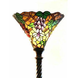 Tiffany Style Grape Torchiere Lamp