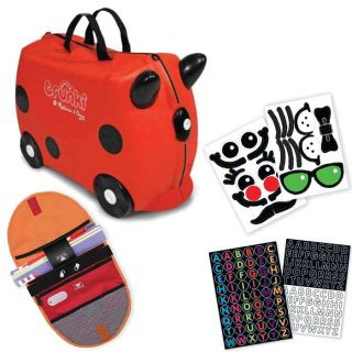 Melissa and Doug Kids Ruby Red Carry on Luggage/ Sticker Set