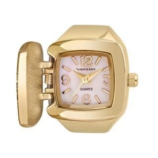 Vernier Womens V900 Leopard Print Ring Watch
