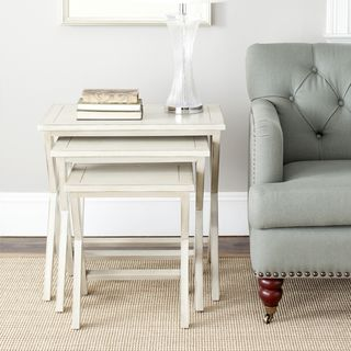 Sete Antiqued Grey Nesting Tables (Set of 3)