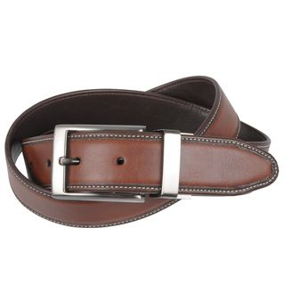 Geoffrey Beene Mens Reversible Leather Belt