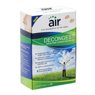 Air Decongest Drug free Decongestant Nasal Breathing Aid (Pack of 12