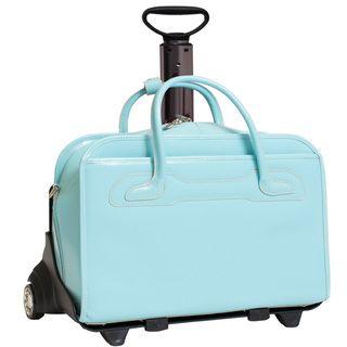 McKlein Blue Willowbrook Detachable Wheeled Laptop Briefcase