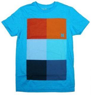 Hurley Mens Kings Road Block Premium T Shirt Clothing