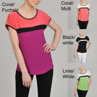 AnnaLee + Hope Womens Color blocked Jersey Top
