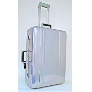 Zero Halliburton 26 inch Blue Aluminum Zeroller Suitcase