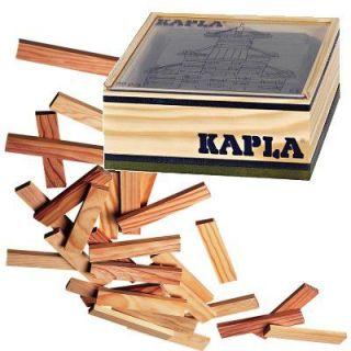KAPLA   40 planchettes Kapla dune même couleur, vert foncé, dans un