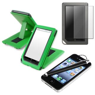 Leather Case/ Screen Protector/ Stylus for  Nook Tablet