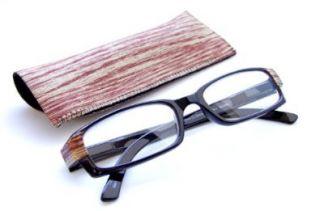 Wood Grain Reading Glasses   Wood Grain Designer Case