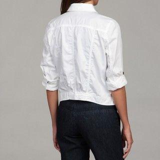 Calvin Klein Jeans Womens White Denim Jacket