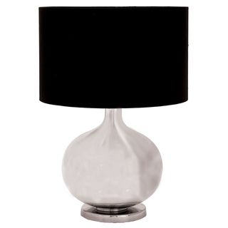 Mero Silver Glass 23 inch Arisan able Lamp