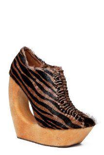Jeffrey Campbell Rockin Ex High Heel Shoe   Tan Black Zebra Shoes