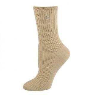 Ralph Lauren womens socks Rib Bamboo Trouser light coffee
