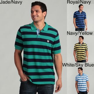 Chaps Mens Striped Polo Shirt