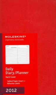 Moleskine 2012 Daily Planner Red Hard Cover Large (Calendar