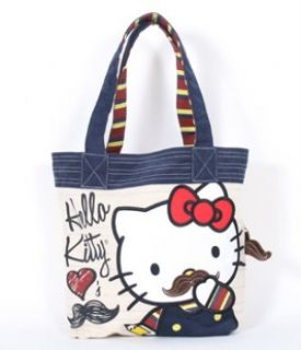 Loungefly Hello Kitty Mustache Tote (Tan with Colored