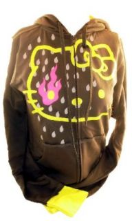 Hello Kitty Ladies Hoodie Sweatshirt   Burning Eyes