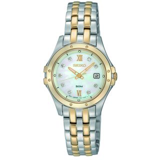 Seiko Womens Two tone Stainless Steel Watch