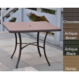 Barcelona Resin Wicker 39 inch Square Outdoor Dining Table