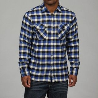 Report Collection Mens Plaid Flannel Shirt