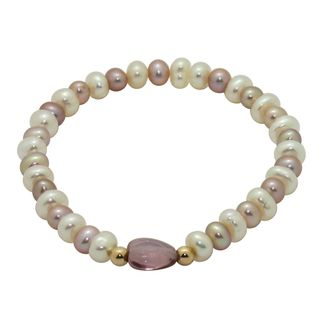 Junior Jewels 14k Gold Multi colored FW Pearl and Crystal Baby