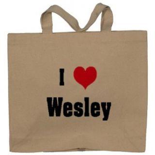 I Love/Heart Wesley Totebag (Cotton Tote / Bag) Clothing