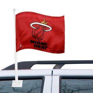 Miami Heat 11 x 15 Red Car Flag