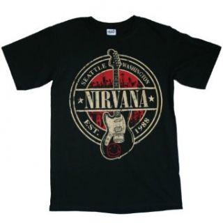 Nirvana   Est 1988 Guitar Stamp T Shirt Clothing