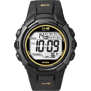 Timex Mens T5K457 1440 Sports Digital Black/Yellow Watch