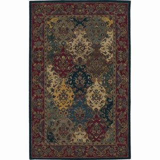 Hand tufted Multi colored Wool Rug (5 x 8)