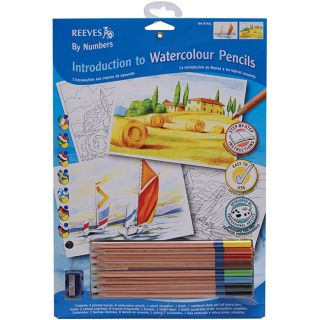 Introduction To Art By Number Watercolor Pencil Kit