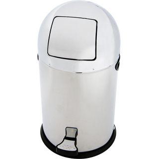 Chrome Bullet 33 liter Trash Can