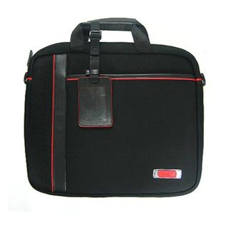 Kroo Black/Red 15 inch Man made Leather Laptop Case